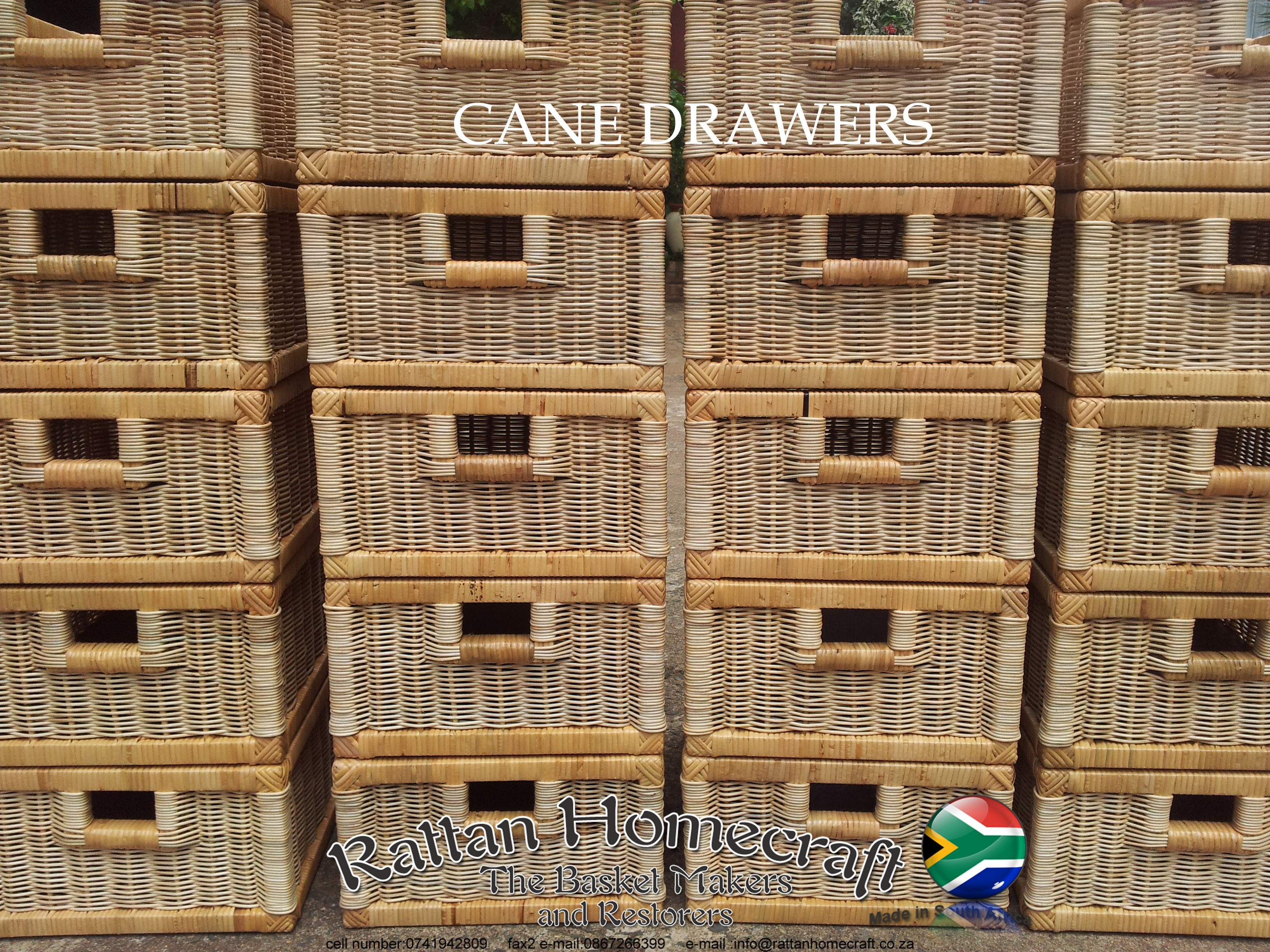 3 Cane Drawers