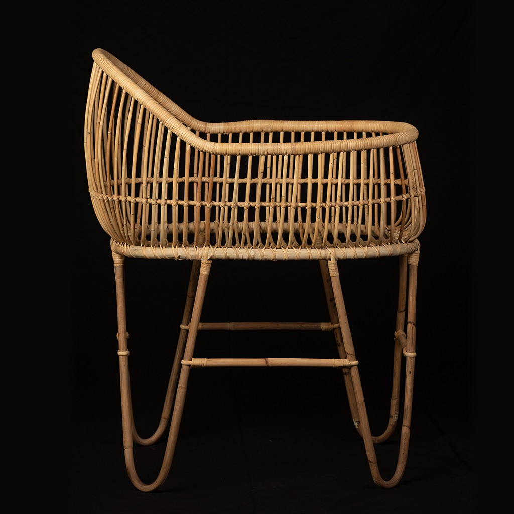 Baby Crib Deluxe Rattan Home Craft